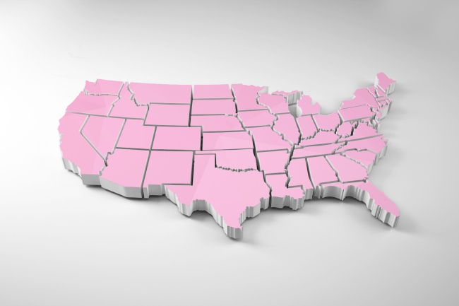 USA States Map 3D Mockup Generator preview image