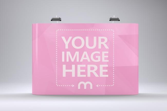Pop Up Banner Advertisement Backdrop Mockup Generator