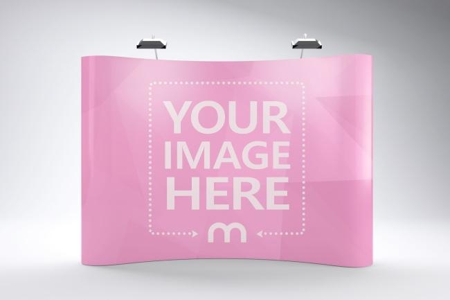 trade show booth logo mockup generator free online