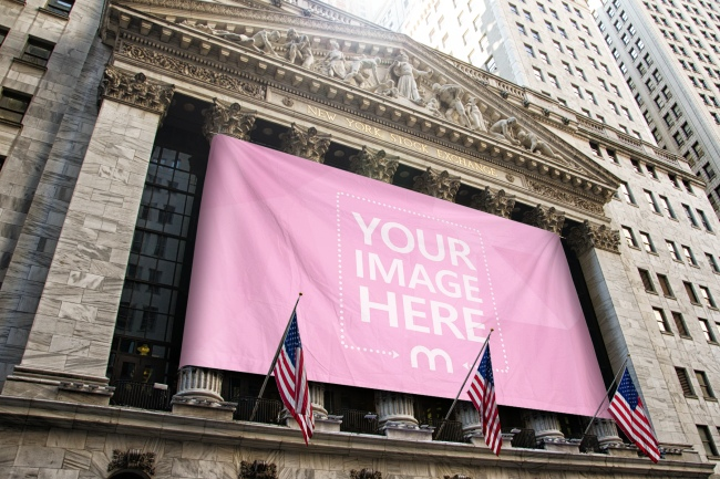 New York Stock Exchange Flag Online Mockup Generator