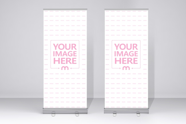 Double Rollup Banner Mockup Generator preview image