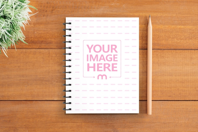 Notebook Cover Design Mockup Generator preview image