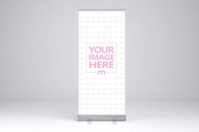 Single Roll Up Banner Stand Mockup Generator preview image