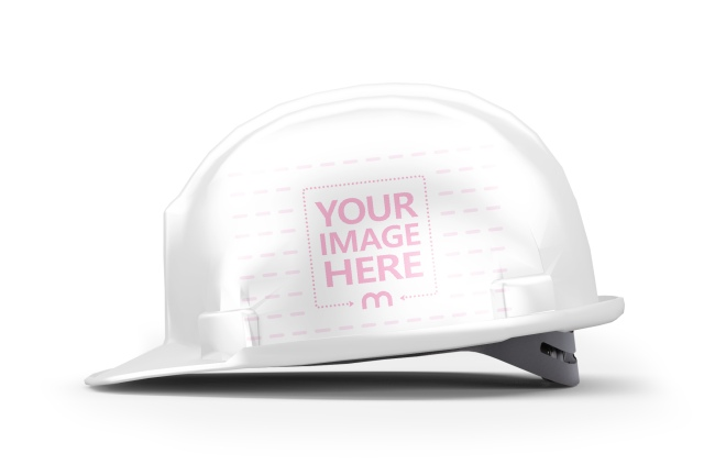 Hard Hat Safety Helmet Side View Mockup Generator
