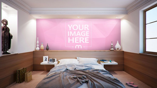 Bedroom Wall Decoration Mockup Generator preview image
