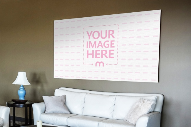 Large Painting on Living Room Wall Mockup preview image