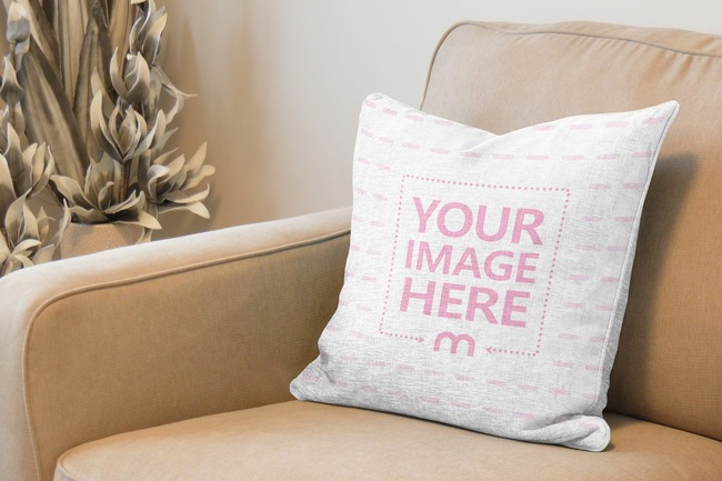 Pillow on Couch Online Mockup Generator preview image
