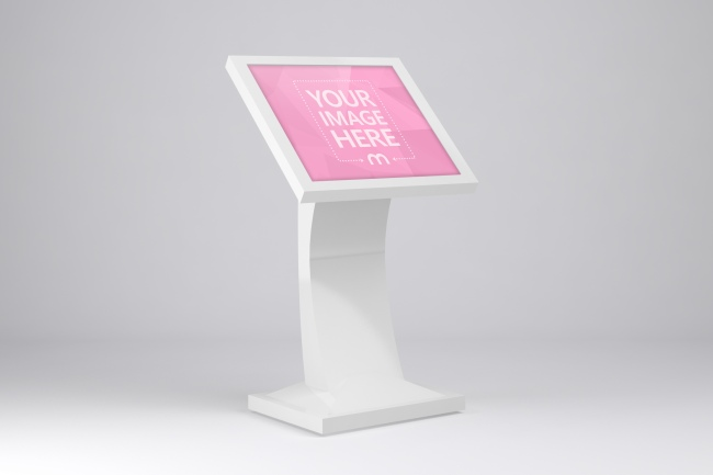 3D Public Touch Screen Display Stand Mockup preview image