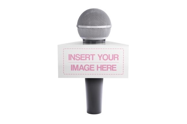 Triangle Microphone Flag Mockup Generartor