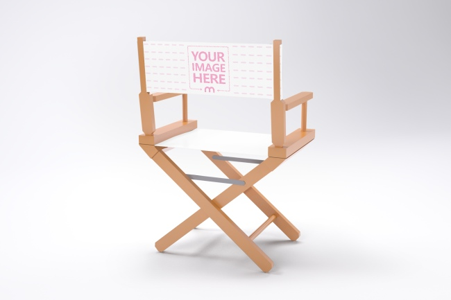 Folding Director Chair Mockup Generator preview image