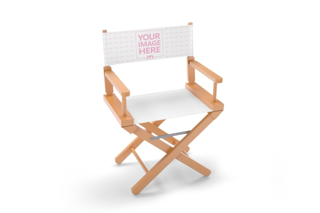 Wooden Folding Director Chair Mockup Generator preview image