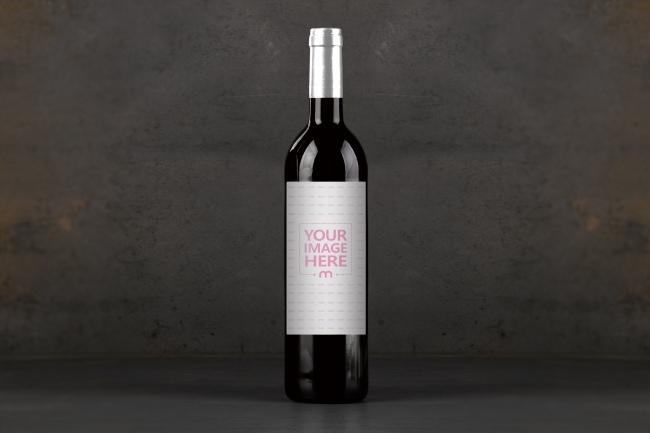 Wine Bottle on Dark Background Mockup Generator preview image