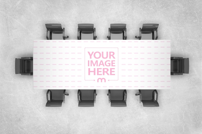 Office Boardroom Table Top View Mockup Generator preview image