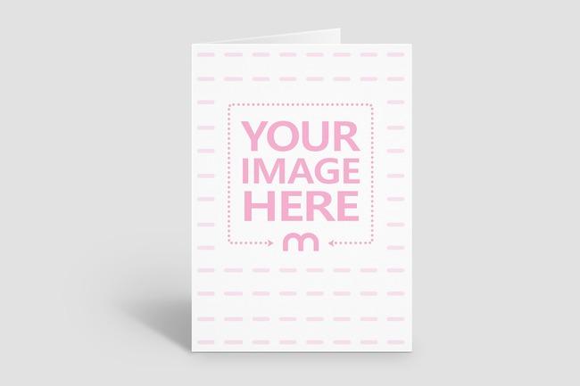 Portrait 5x7 Greeting Card/Invitation Mockup Generator
