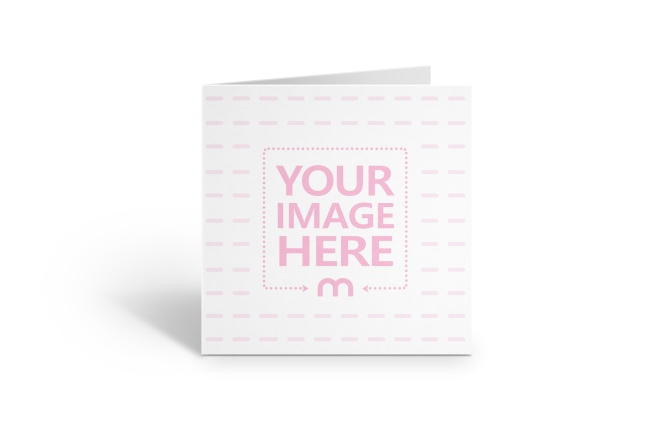 Square Invitation/Greeting Card Mockup Generator