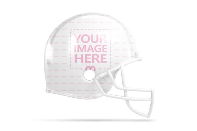 Football Helmet Side View Mockup Generator preview image