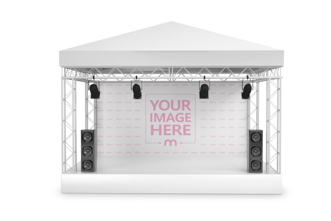 Front View Concert Stage Mockup Generator