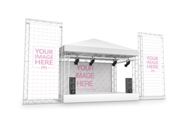 3D Concert Stage with Large Billboards Mockup Generator