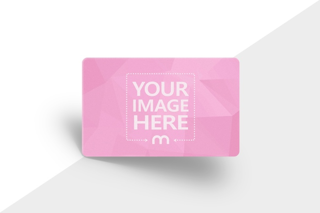 3D Credit Card on Gradient Background Mockup Generator preview image