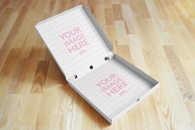 Open Pizza Box Mockup Generator preview image