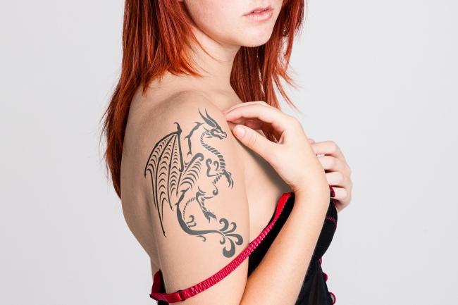 Woman Shoulder Tattoo Mockup Generator