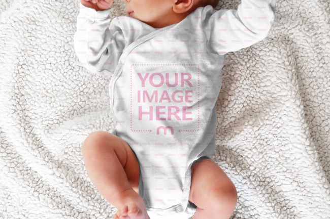 Newborn Baby Bodysuit Mockup Generator
