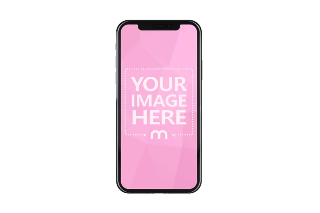 Front Portrait View of iPhone XS Mockup Generator preview image