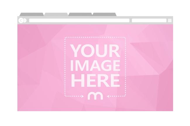 Image in Custom Color Web Browser Mockup Generator