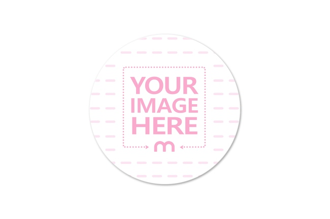 Flat Round Sticker Mockup Generator preview image