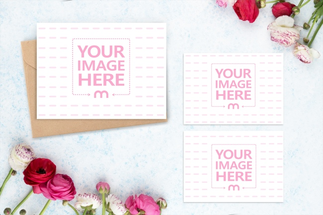 Invitation Letter with Details and RSVP Card Mockup Generator preview image