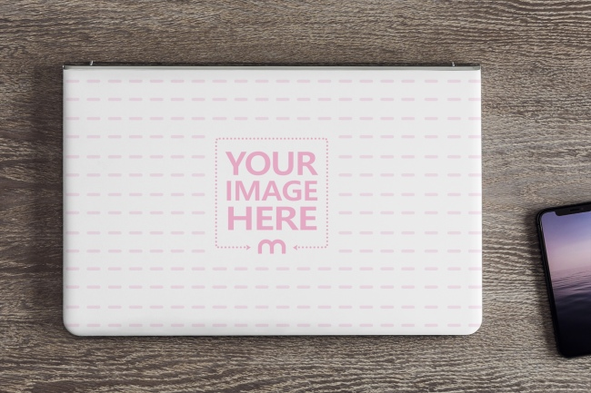 Laptop Cover Sticker Mockup Generator preview image