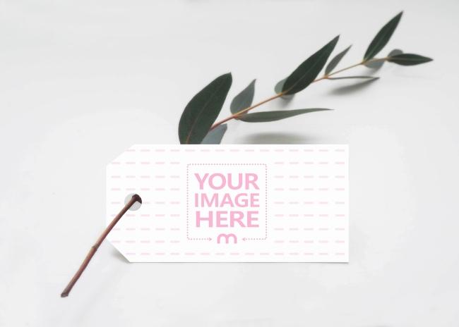 Landscape Paper Label Tag Mockup Generator preview image