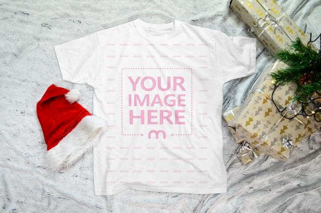 Men's Christmas T-Shirt Mockup Generator preview image