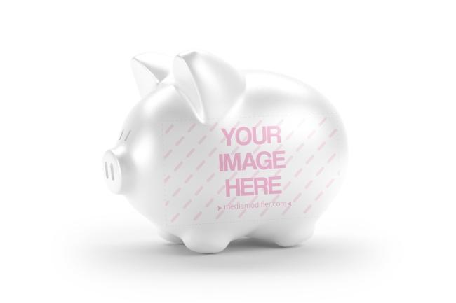 3D Piggy Bank Money Box Mockup Generator preview image
