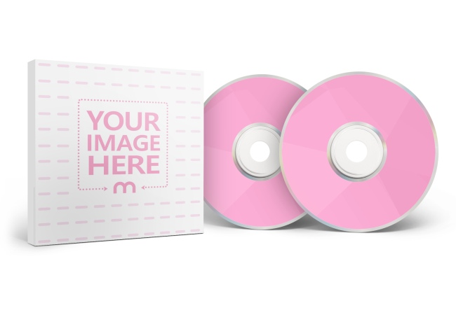 Double DVD/CD with Box Case Mockup Generator