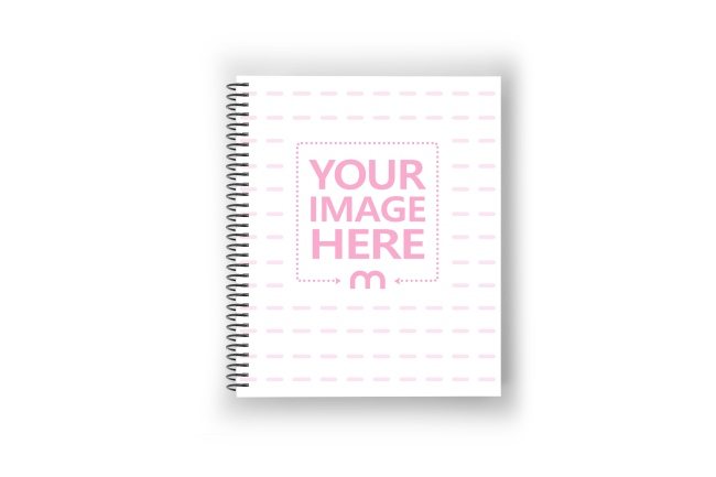 Portrait Binded Notebook Planner Cover Mockup preview image