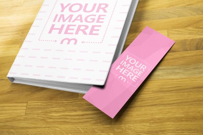 Book Cover and Paper Bookmark Mockup Generator