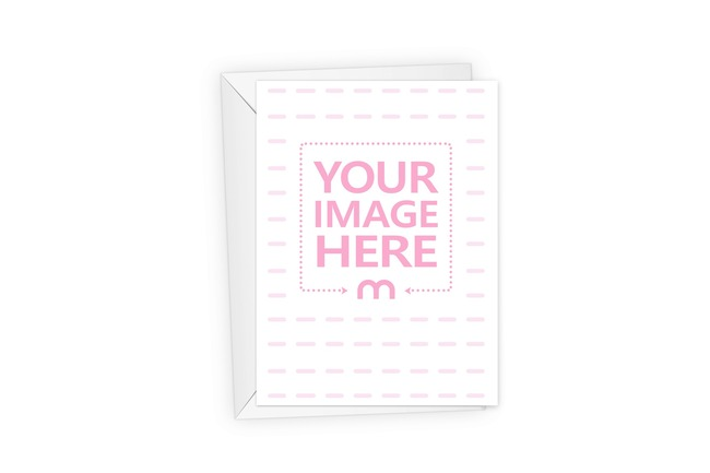 Portrait Greeting Card with Envelope Mockup Generator preview image