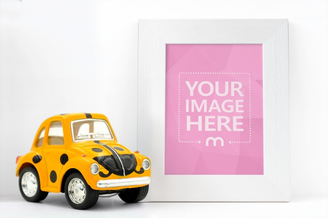 Photo Frame with Toy Car Mockup Generator preview image