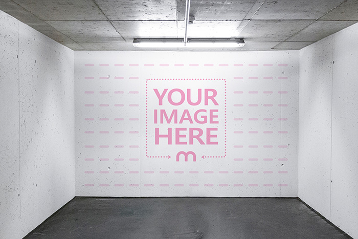 Logo on Concrete Room Wall Mockup Generator preview image