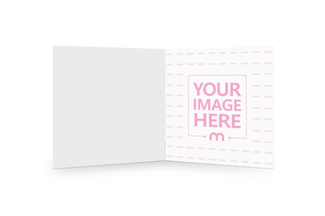 Inside Foldable Square Card Mockup Template preview image