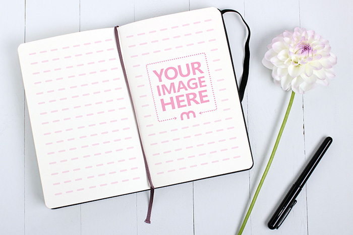 Open Notebook Page Mockup Template preview image