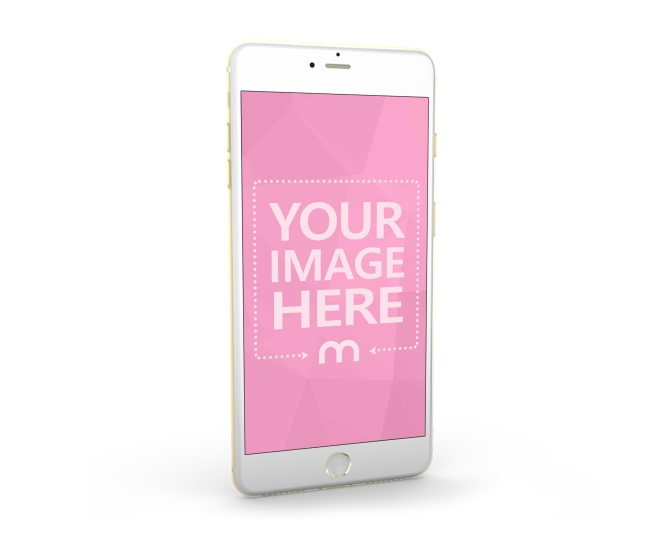 Standing White Smartphone 3D Mockup Generator preview image