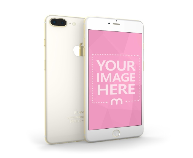 Golden iPhone 3D Mockup Template preview image