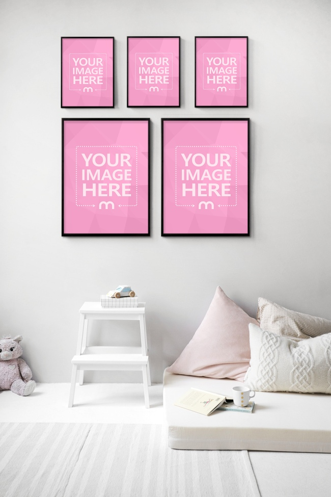 Pictures on Kids Room Wall Mockup Generator preview image