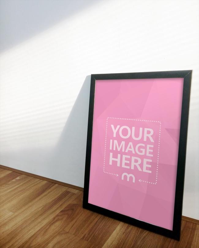 Portrait Canvas Frame on Floor preview image