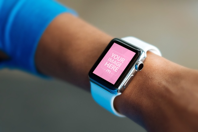Apple Smartwatch Closeup Mockup Generator preview image
