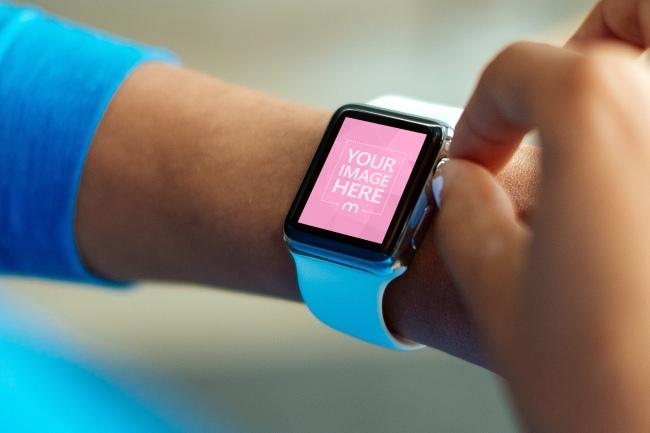 Apple Smartwatch on Wrist Mockup Generator preview image