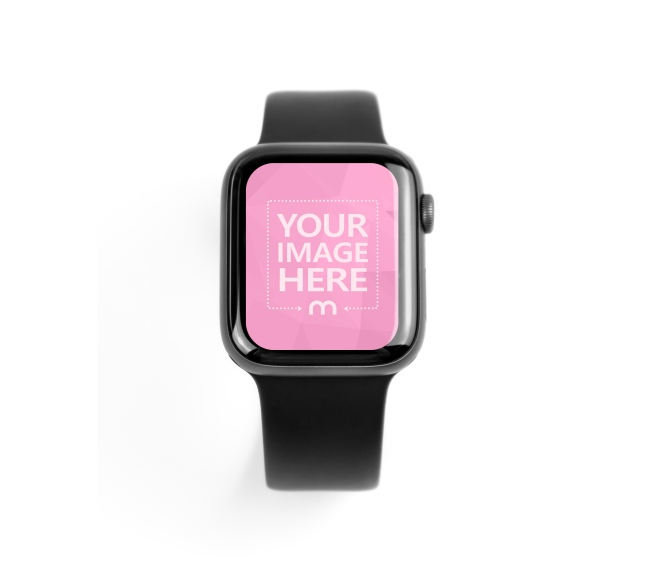 Apple Smartwatch on White Background Mockup Generator preview image