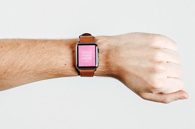 Man Wearing Smartwatch Mockup Generator preview image